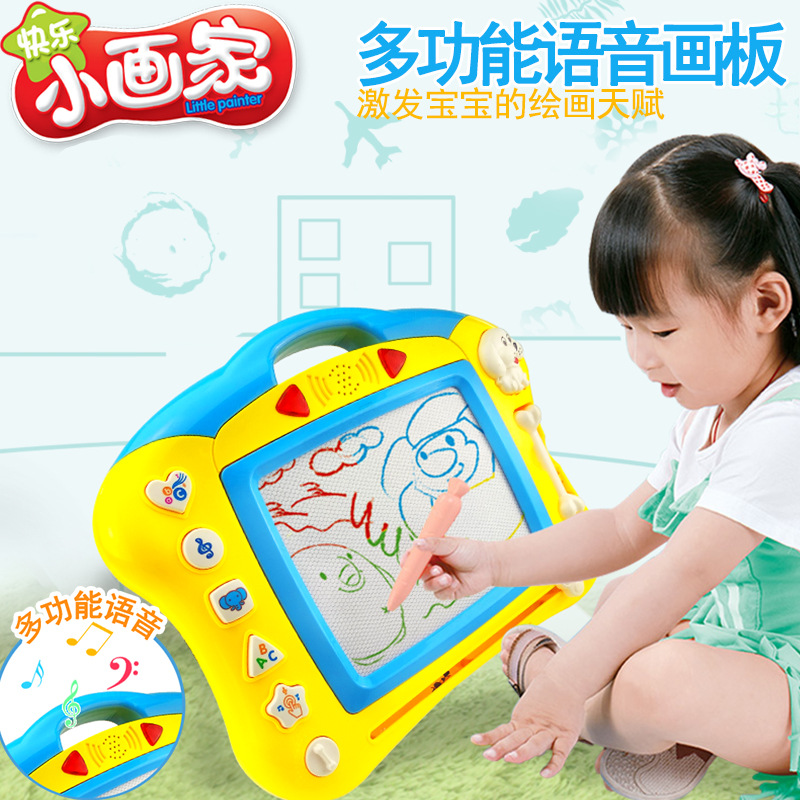 Children Magnetic Drawing Board Music Light Multicolor Large Writing Board 3-6 Years Old Baby Doodle Board Toy 8965/66