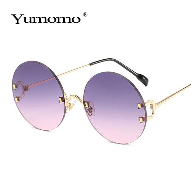 Vintage Round Sunglasses Women Ocean Color Lens Mirror Sun Glasses Female Brand Design Metal Frame Circle Glasses Modis Oculos 5
