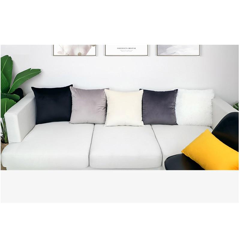 Luxury White Black Gray Velvet Cushion Cover Pillow Cover Pillow Case Yellow Green Blue Home Decorative Sofa Throw Pillows Chair