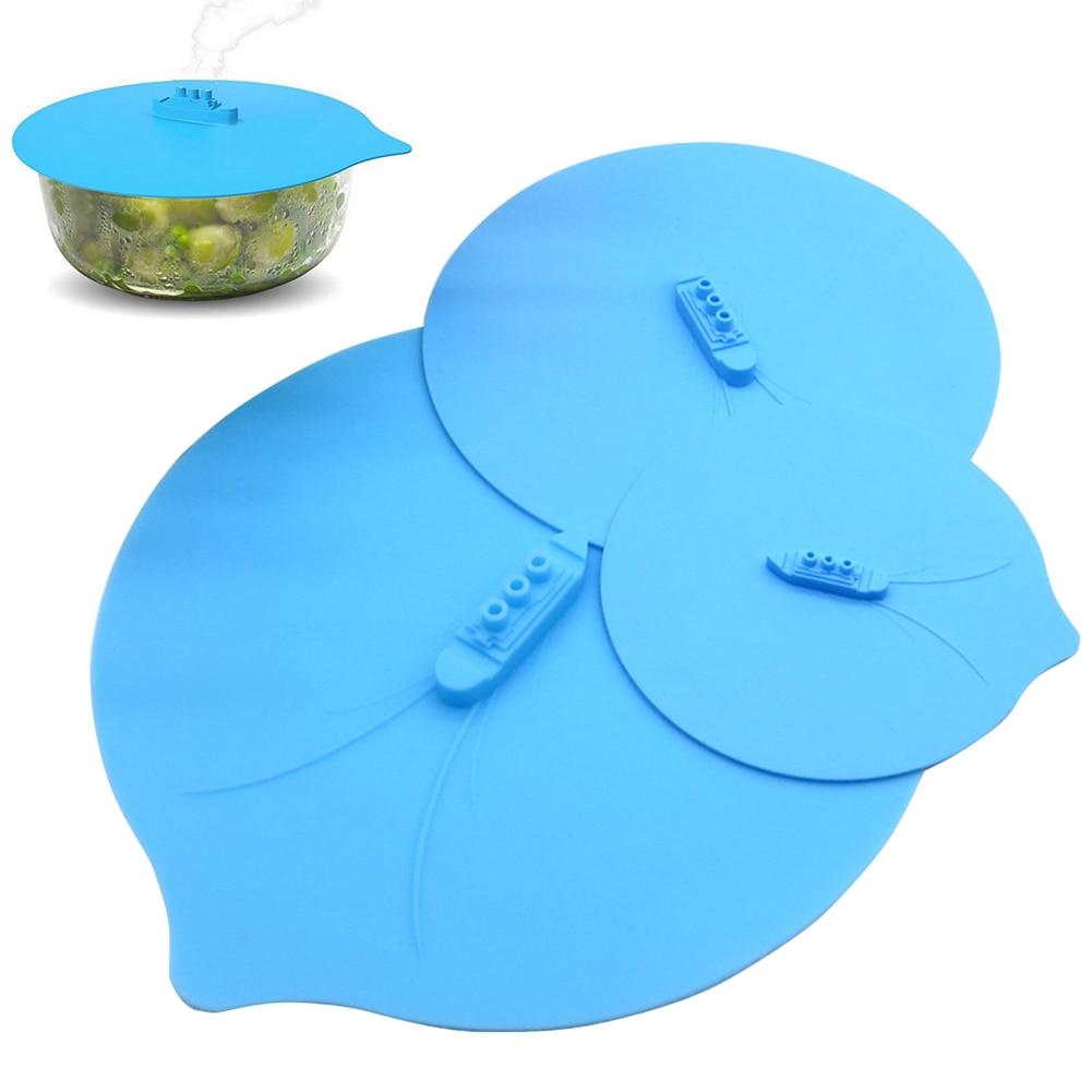 3 шт., портативное отверстие для выхлопа, крышка для чаши, безопасная для пищевых продуктов, силиконовая крышка для хранения, для дома, защита от брызг, для кухни, многоразовая Крышка для пароварки, сковорода