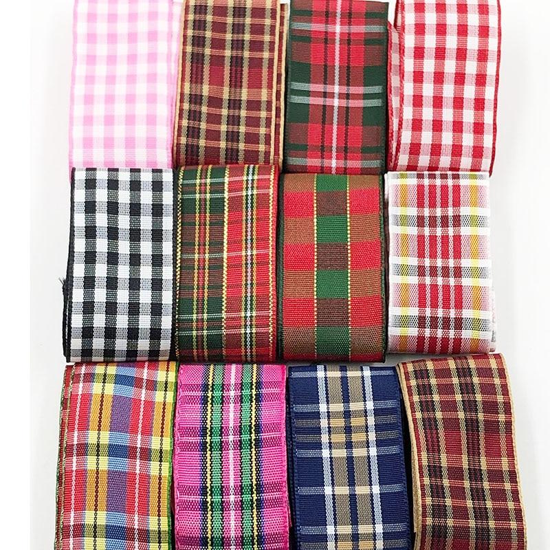 """Femmes Filles Handmade Large 4/"""" Noir /& Tartan Rouge Carreaux Tissu Nœud Cheveux Clips"""