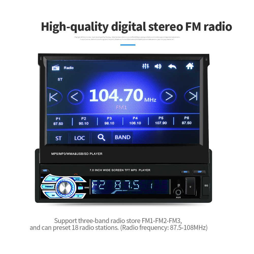 7inch Quy Mô Autoradio Cassette Đầu Ghi Automagnitola Xe Video Đa Phương Tiện MP5 9601G Màn Hình Cảm Ứng BT FM Chứa GPS