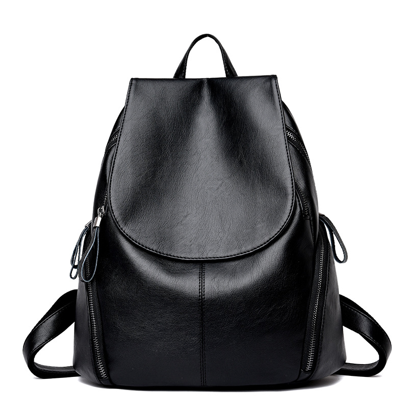 Top Grade Backpack Women's PU Leather With Leather 2018 New Style Simple Versatile Fashion Backpack Cross Border WOMEN'S Bag A G