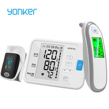 Yonker OLED Fingertip Pulse Oximeter & LCD ARM Blood Pressure Monitor & Baby Infrared Thermometer Family Health Care Gift