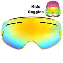 Kids Ski Goggles Double Layers UV 400 Anti-fog Ski Glasses S