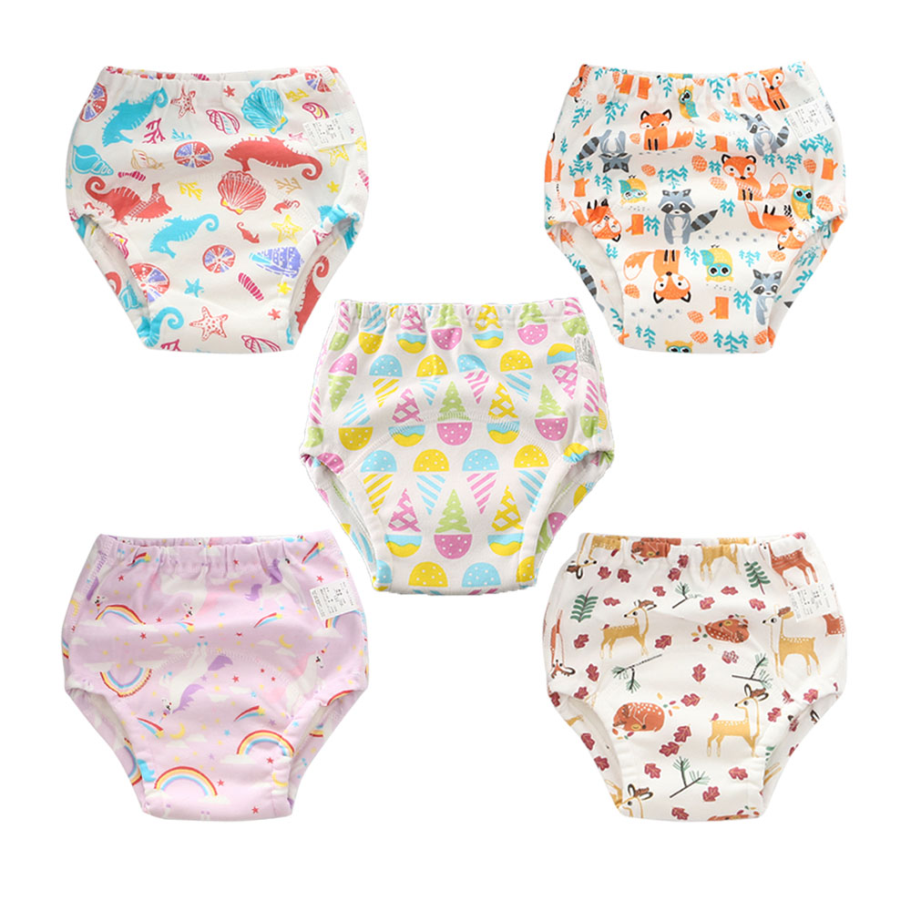 5pcs/lot Cotton Infants Children Cotton Potty Training Pants Reusable Baby Kids Cloth Diaper Nappies Diapering & Toilet Training