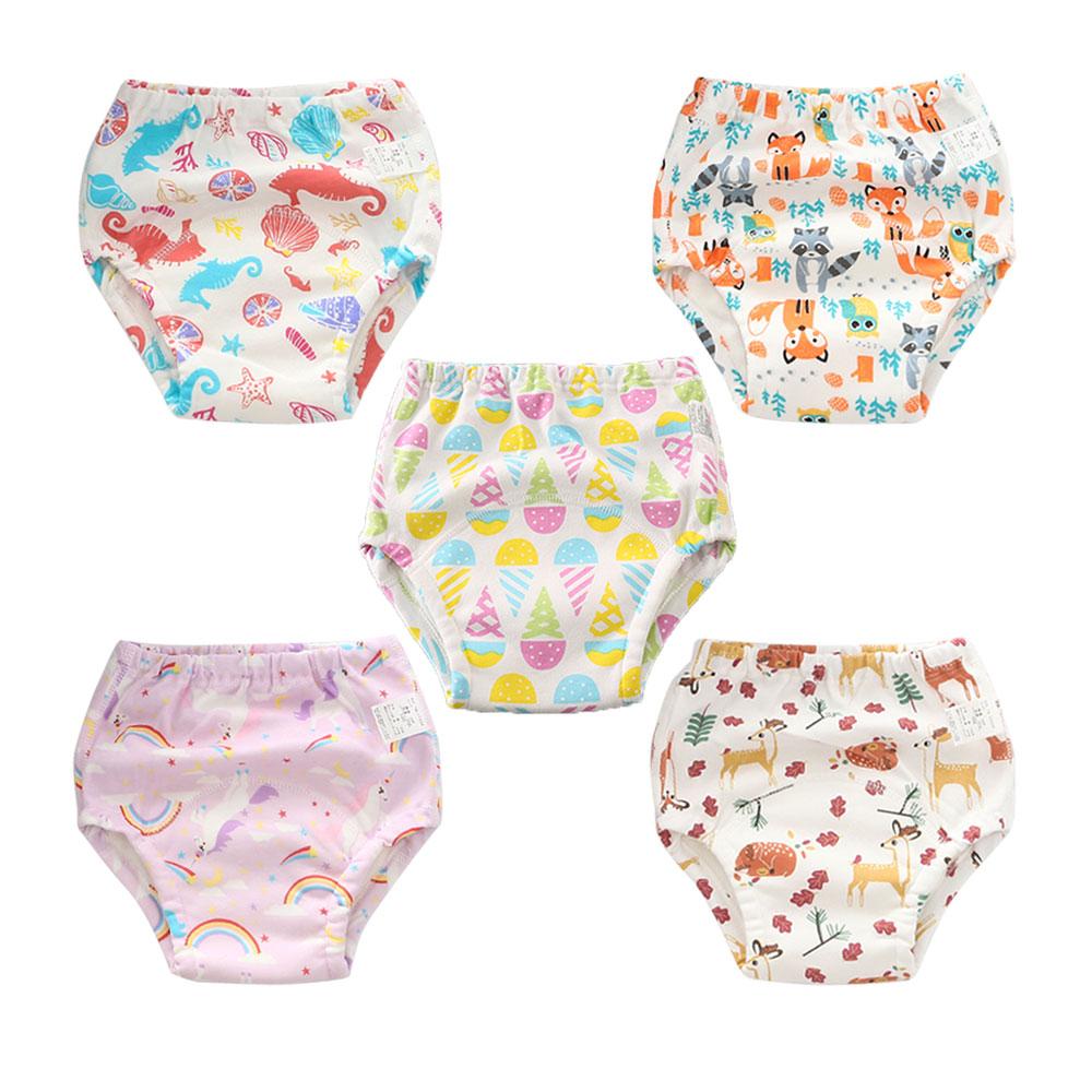 5pcs/lot Cotton Infants Children Cotton Potty Training Pants Reusable Baby Kids Cloth Diaper Nappies Diapering & Toilet Training