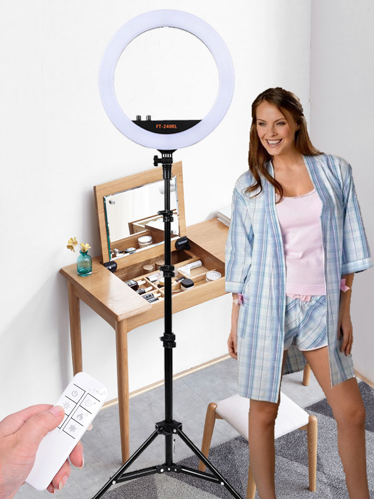 Fosoto Tripod-Stand Ring-Lamp Camera Photographic-Light Phone-Video Photo-Studio 240