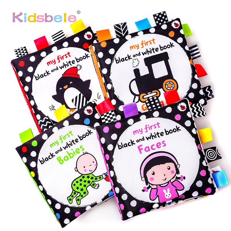 Soft Books For Newborns Baby Toys Black White Early Learning Educational Kids Toys For Toddler High Contrast Newborn Development