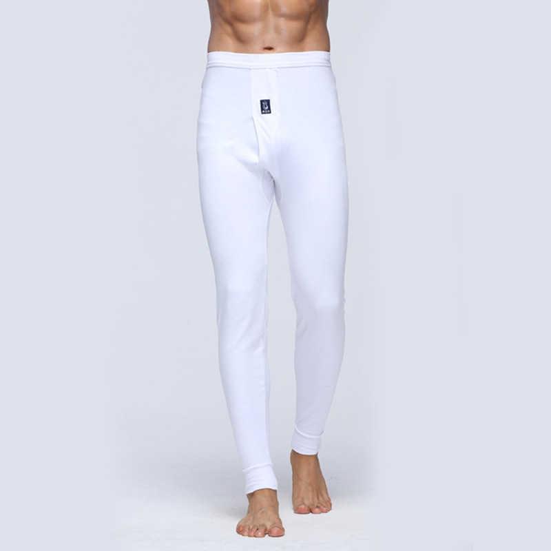 Sıcak 2019 Sonbahar Kış Katı Ince Termal Pantolon Kış sıcak Yumuşak tayt Yaşlı Örme Rahat termal iç çamaşır