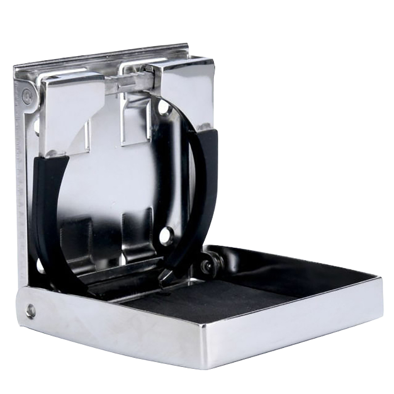 New Adjustable Stainless Steel Sport Folding Drink Cup Holder For Boat/Car /Rv