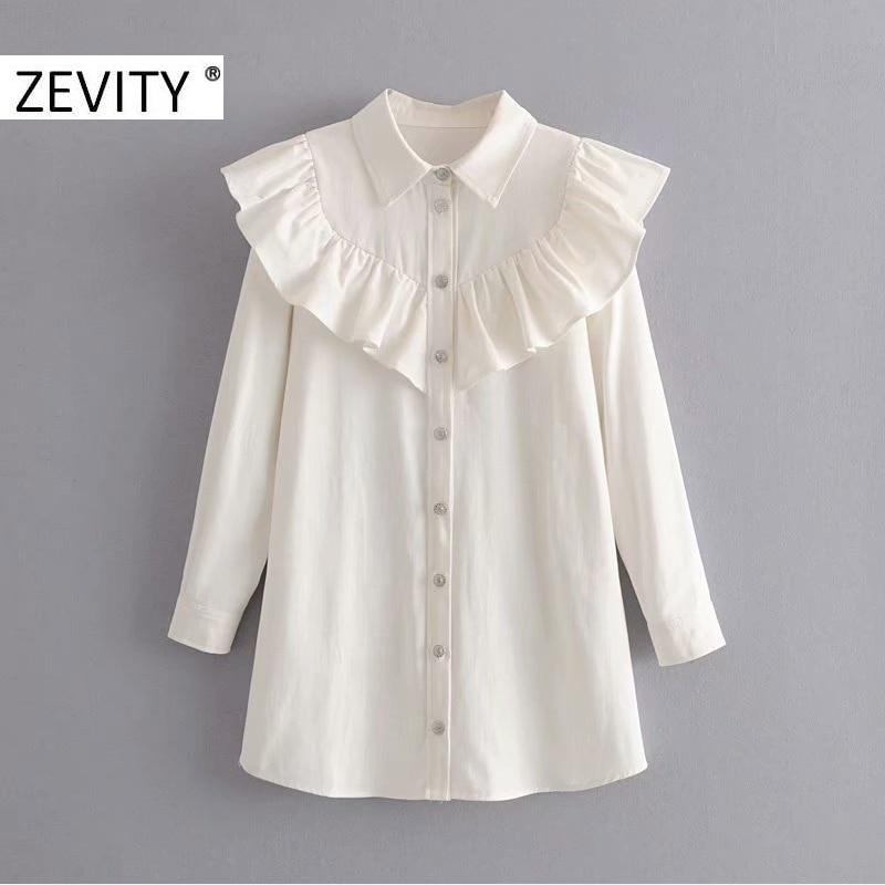 2020 NEW women stylish solid ruffles denim dress turn down collar long sleeve female mini dresses straight style vestidos DS3487