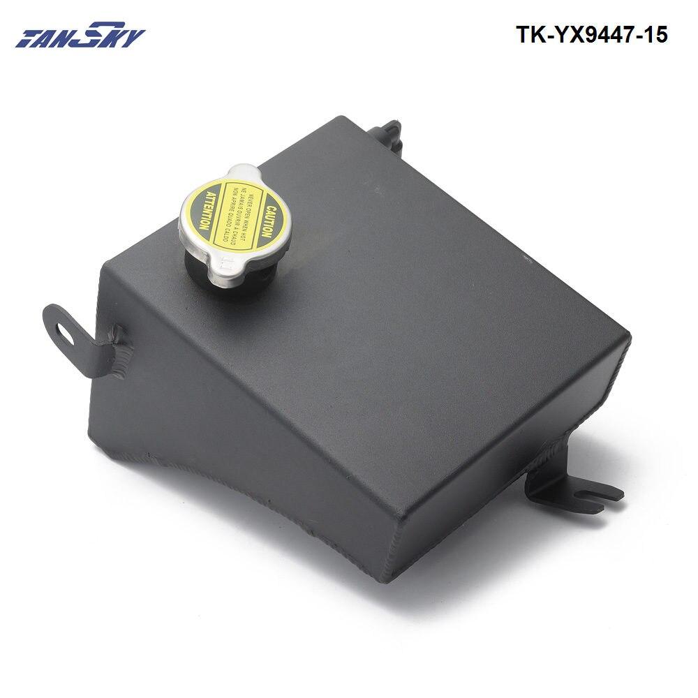 Universal 1.2L Alloy Coolant Water Header Overflow Tank w// Billet Cap AN6 Polish