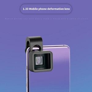 Image 2 - Geniş ekranlı cep telefonu anamorfik Lens geniş açı klip Film bozulma kamera Lens Iphone Samsung Hwawei akıllı telefon