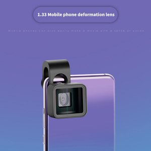 Image 2 - Widescreen Mobile Phone Anamorphic Lens Wide Angle Clip Film Distortion Camera Lens For Iphone Samsung Hwawei Smart Phone