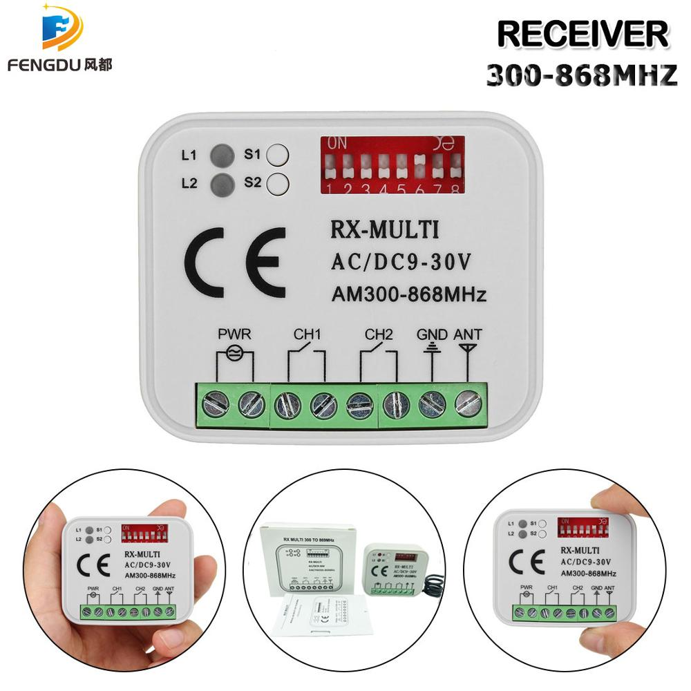 Multi Frequency 280-868mhz BENINCA DITEC DOORHAN Hormann SOMMER Universal Garage Door Remote Control Receiver