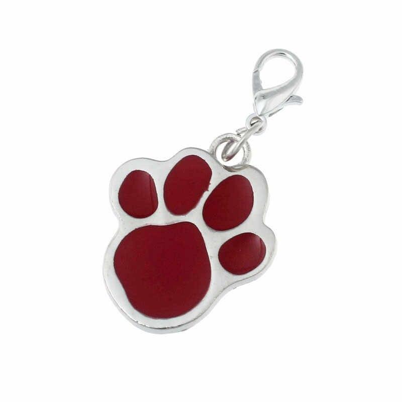 Impronte Cucciolo del Gatto del cane plum blossom footprint pendente dell'animale domestico di Modo Del Pendente Del Rhinestone Animale Domestico Bella Collo del pendente Dei Monili Del Collare