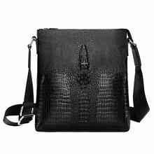 New Men Genuine Leather Crossbody Business Crocodile Shoulder Messenger Bag Bolsa Luxury Bags Designer Luis Vuiton Sac Tassen Vs