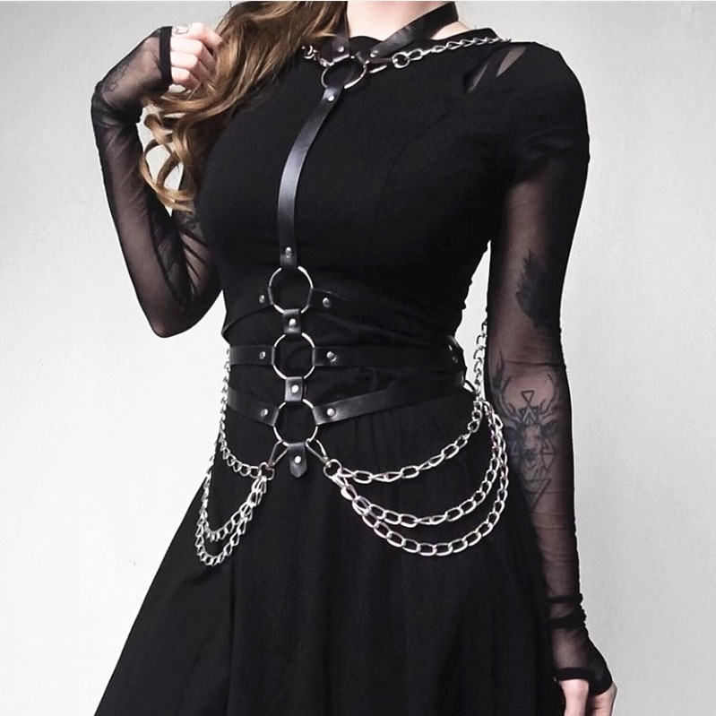 Leather Harness Belt Erotic Accessories Body Chain Punk Body Bondage Tanks Waist Belts BDSM Game Wearing Sexy Products Women