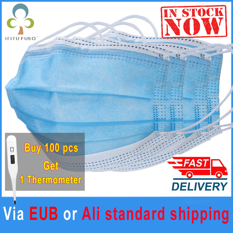 In Stock 3 Layers Disposable Medical Protective Face Mouth Masks  Anti Corona Virus COVID 19 PM2.5 Flu Facial Safety Masks GYH  -