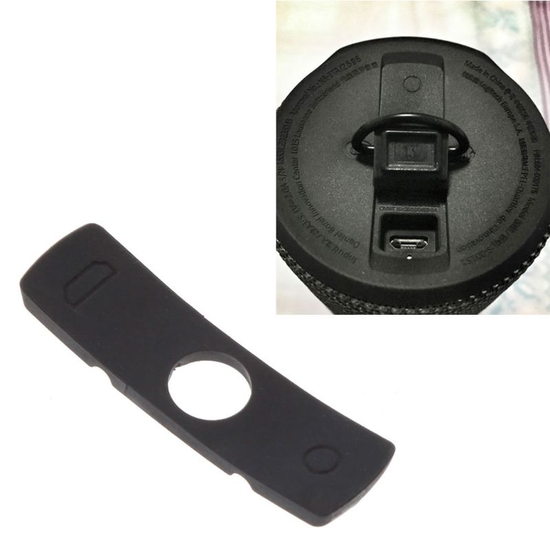 Replace Rubber Plug Cover For Logitech UE Boom 2 Speaker Charge Port  Waterproof Black Rubber Plug Cover