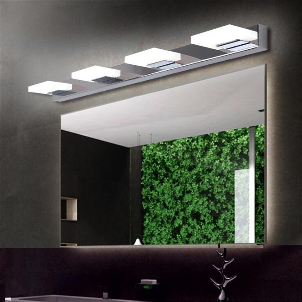 Modern 1-5 Head LED Cosmetic Acrylic Bathroom Lighting Waterproof Vanity Mirror Wall Cabinet Lamp Hollywood Makeup Bath Room