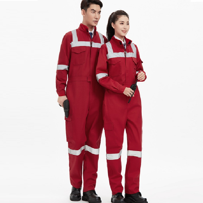 100% Cotton Welding Coverall Flame Retardant Overall Men's Petrochemical Metallurgy Fire Protective Clothing Anti-scald Uniforms