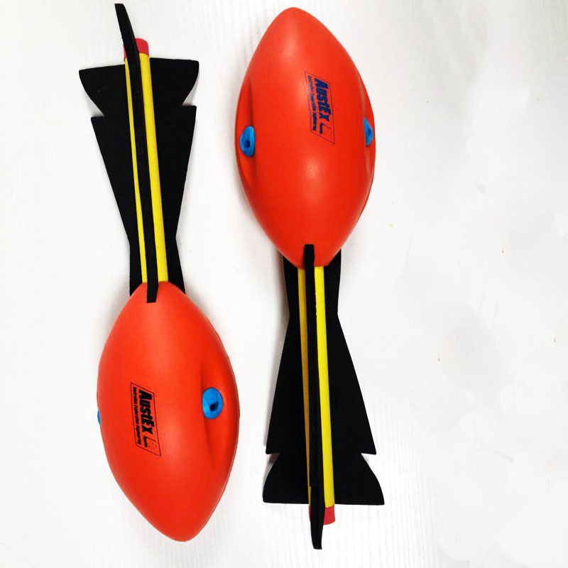 Manufacturers Supply Foam Straps And Whistle Sports Pu Missile Ball Children's Outdoor Throwing Toys Rocket Ball Torpedo