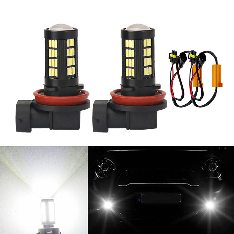 2x H8 H11 Led Bulb Fog <font><b>Lights</b></font> Car Lamp Auto <font><b>Light</b></font> Bulbs No Error For Mercedes <font><b>Benz</b></font> W211 W212 W164 <font><b>W221</b></font> image