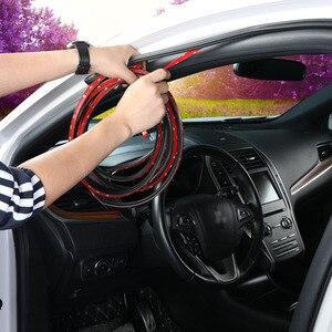 Image 2 - L tipi araba kapı kauçuk conta şerit çift katmanlı sızdırmazlık yapışkan çıkartmalar araba yalıtım Weatherstrip oto iç aksesuarları