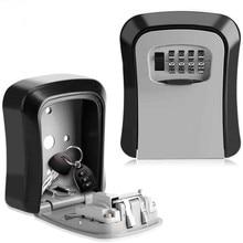 Ключ сейф MetalKey сейфа настенный алюминиевый сплав всепогодный 4-х значный кодовый ключ для хранения замок коробка