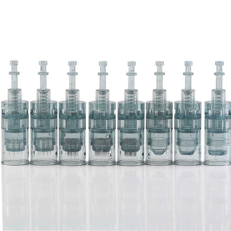 10 peças 11/16/24/36/42/nano agulhas microagulhamento, de dr pen m8 modelo cartucho de substituição em um saco