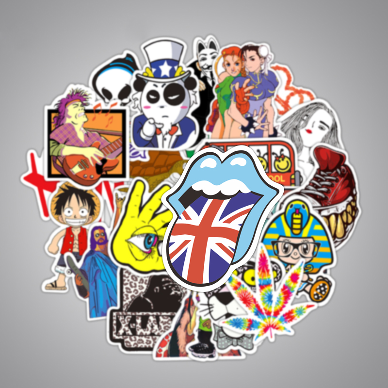 100Pcs Waterproof Graffiti Sticker Cartoon Toy Sticker for Car Styling Bike Motorcycle Phone Laptop Travel Luggage Cool Sticker in Stickers from Toys Hobbies