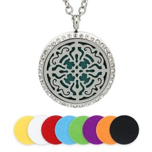 2016 Openwork Stainless Steel Essential Oil Aromatherapy Diffuser Living Floating Filigree Lockets With Crystal Free Shipping