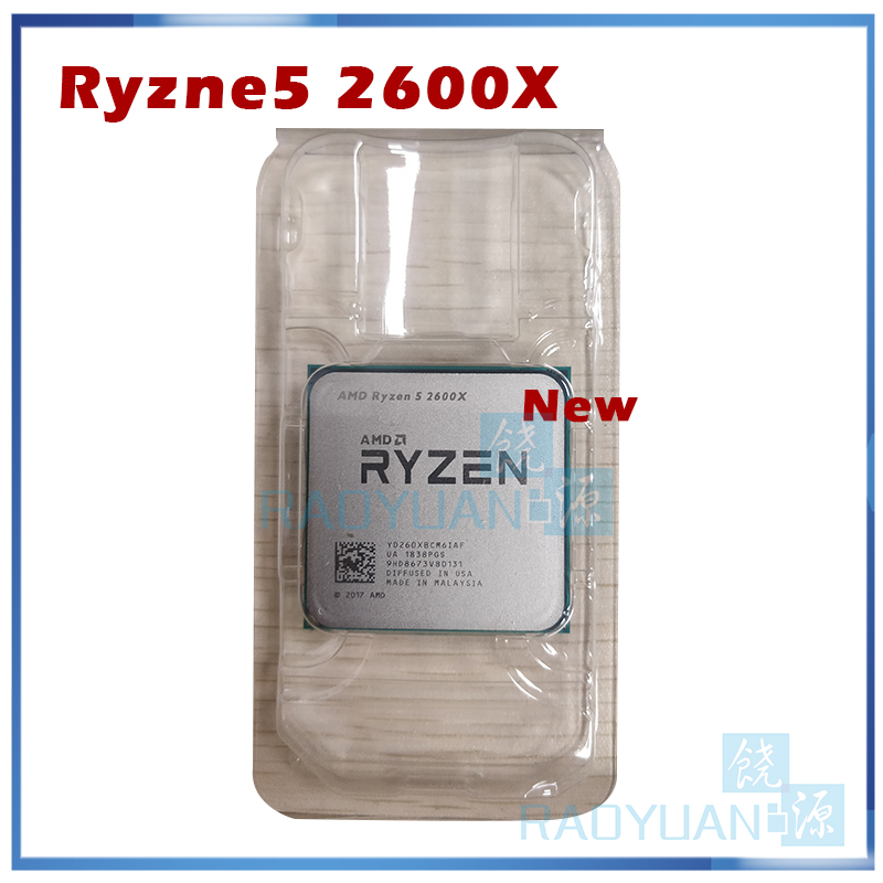Image 1 - AMD Ryzen 5 2600X R5 2600X 3.6 GHz Six Core Twelve Thread 95W CPU Processor YD260XBCM6IAF Socket AM4CPUs   -
