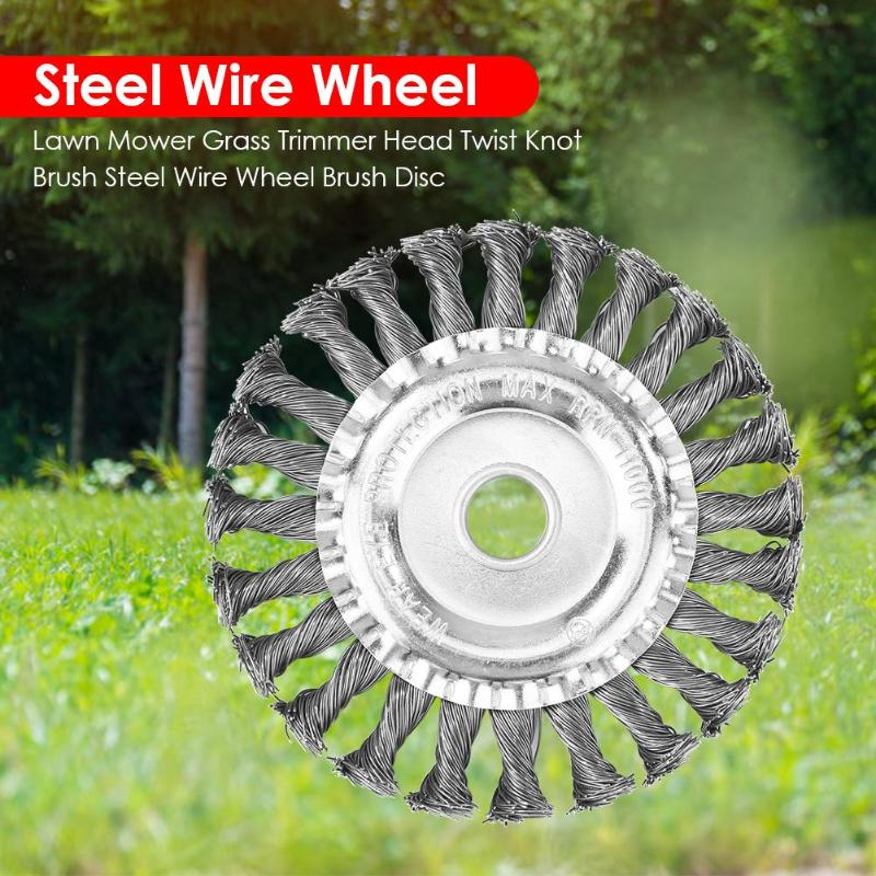 Universal Grass Trimmer Head Steel Wire Trimming Head Rusting Brush Cutter Mower Wire Weeding Head For Lawn Mower