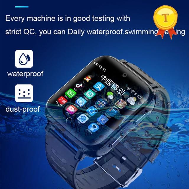 New Arrival ip68 real waterproof swimming style 4G Kids Smart watch sim card GPS SOS WIFI Android Smart gps Watch boy girl