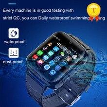 חדש הגעה ip68 אמיתי עמיד למים שחייה סגנון 4G ילדים חכם שעון כרטיס ה sim GPS SOS WIFI אנדרואיד החכם gps שעון ילד ילדה