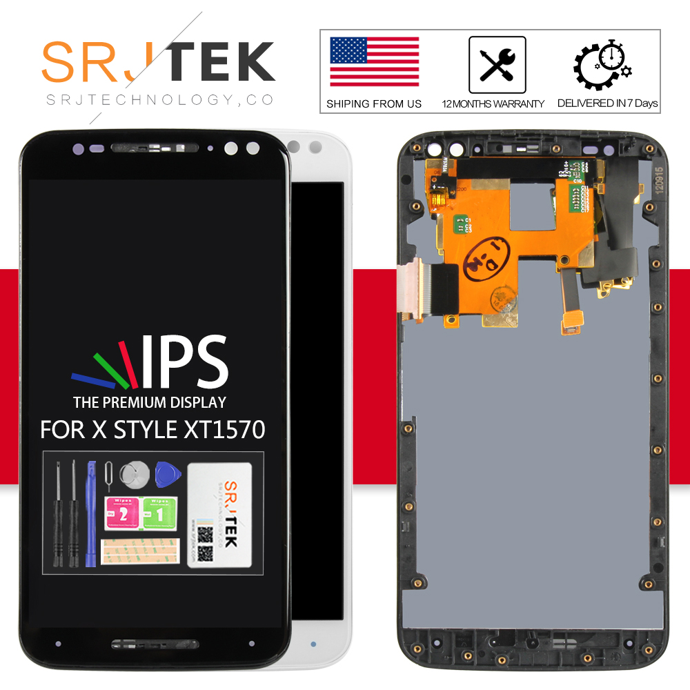 For Motorola Moto X Style X Pure LCD Display Touch Screen Digitizer Full Assembly With Frame x3s X3 style XT1570 XT1575 XT1572