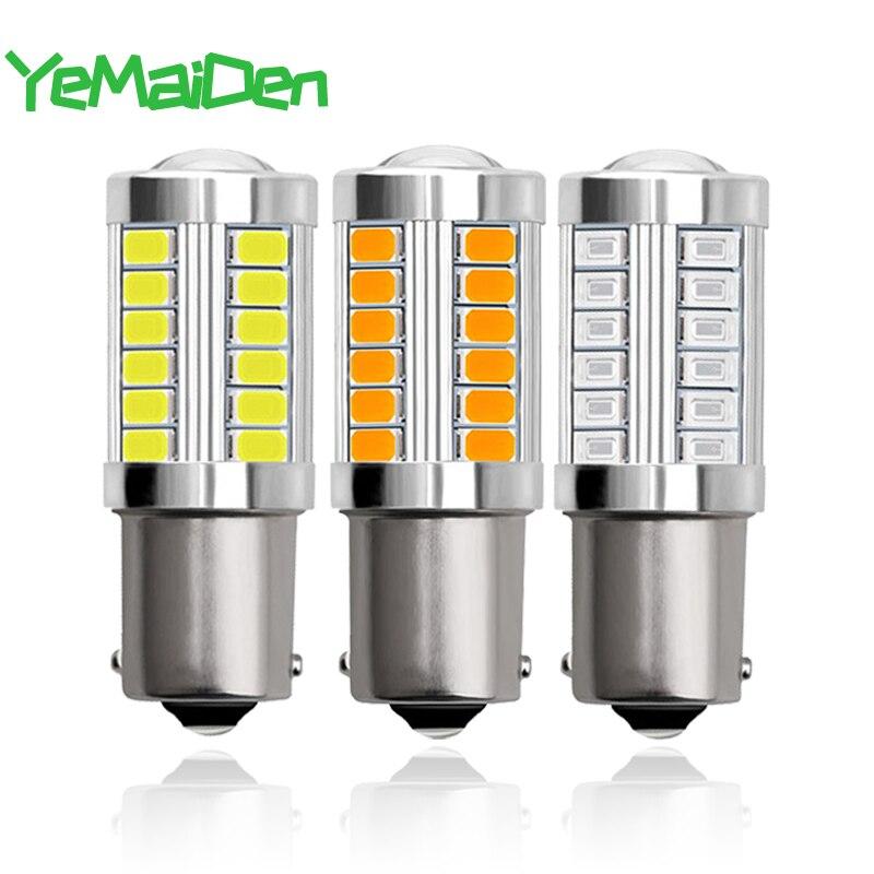 1x1157 BAY15D светодиодный лампы P21W PY21W 1156 BA15S светодиодный поворотник светильник 12V 6500K 5630 33 SMD автомобильное стояночный тормоз обратный свет ламп...