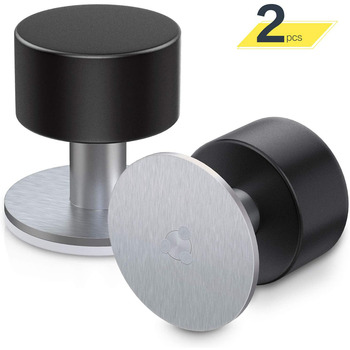 Door Stopper Stops 2 Pack Adhesive Wall Mounted Door Stop Stainless Steel Doorstop for Floor with Sound Dampening Bumper yutoko stainless steel door stop casting powerful floor mounted magnetic holder 46mm 47mm satin nickel brushed door stopper