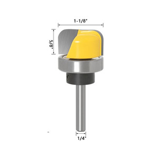 Image 5 - Fraise à bois à deux cannelures de qualité industrielle, à bol et modèle de plateau, 6mm/6.35mm/8mm, 1 pièce