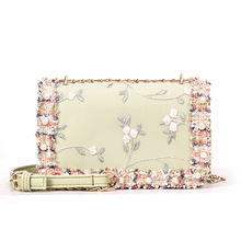 Elegant Clutch Party Bag 2019 Evening Bag Pink Flower Clutches for Women Wild Messenger Bag Chain Shoulder Bag Ladies PU Handbag стоимость