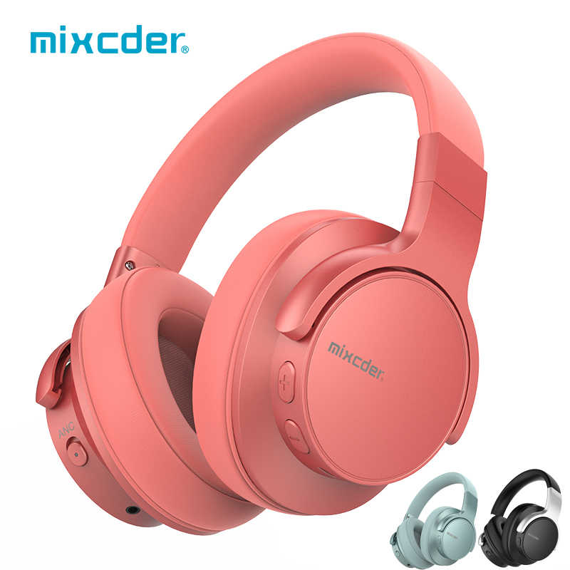 Mixcder E7 bezprzewodowy/a słuchawki aktywne redukcji szumów słuchawki Bluetooth V5.0 szybkie ładowanie ANC zestaw słuchawkowy do telefonu