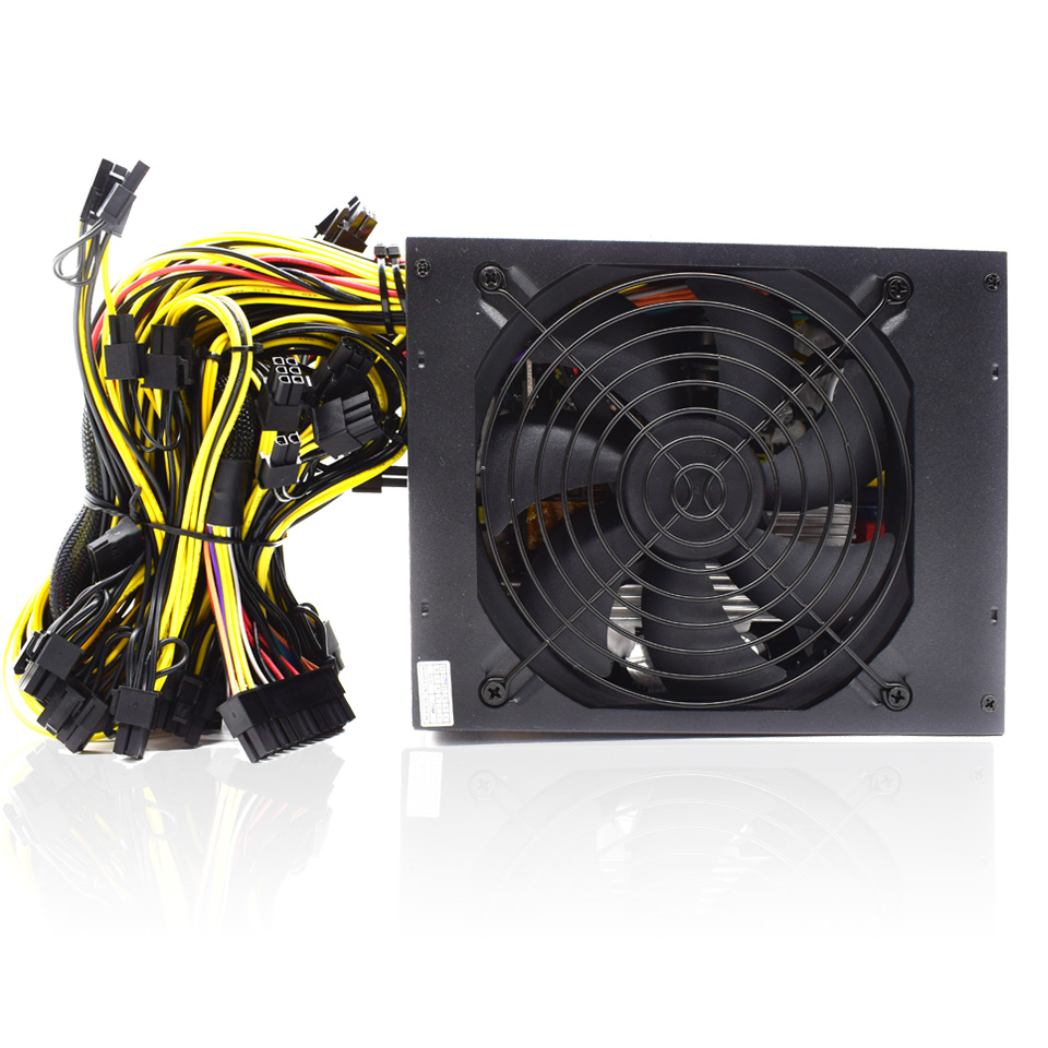 Asic bitcoin Gold Power 2000W PLUS BTC power supply ATX Mining Machine  supports 8 GPU cards support 1