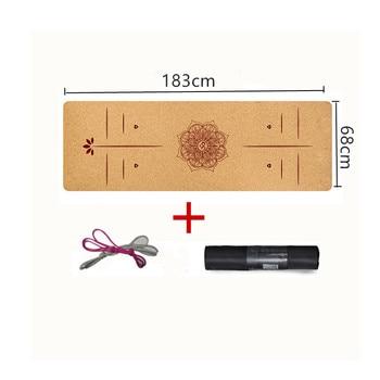183X68cm Natural Cork TPE Yoga Mat For Fitness 5mm Sport Mats Pilates Exercise Non slip