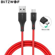 Blitzwolfマイクロusbケーブル 2A充電usbデータケーブル高速充電S7 S6 xiaomi redmi注 5 タブレットアンドロイド