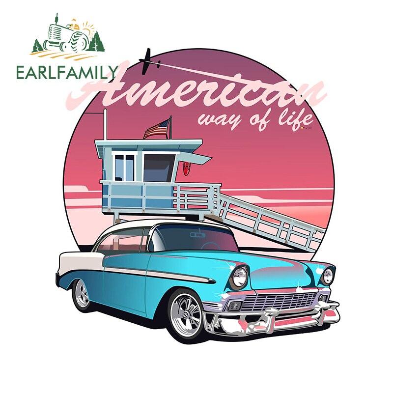 EARLFAMILY 13 см x 12,2 см для Америки, виниловые автомобильные наклейки, автомобильный ноутбук, индивидуальная наклейка, доска для серфинга, домов н...