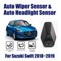 Автомобильный Автоматический Датчик стеклоочистителя от дождя s и датчик фар для Suzuki Swift 2018 ~ 2019 умная автомобильная система ассистента вожд...