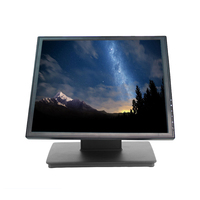 Touchable Display Clear screen nice computer Monitor 17 inch Monitor with MSR